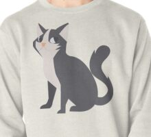 Psst! My Cat Is Watching! // Hand Drawn Cute Funny Little Kitten Illustration Pullover