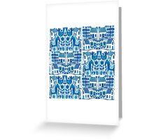 Blue Scandi Greeting Card