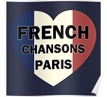 French chansons paris heart Poster