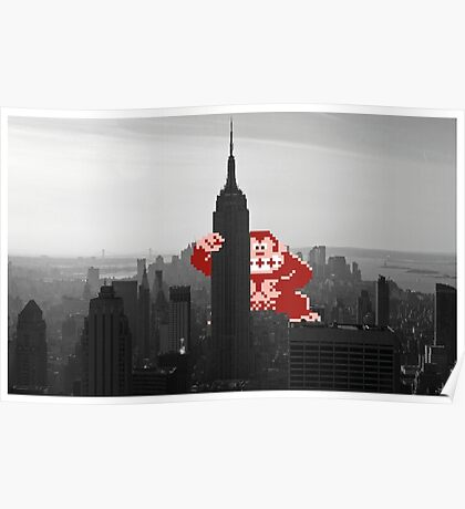 Donkey kong, NY Empire State building Poster