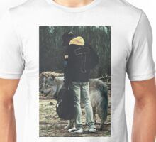 Kid with wolf Unisex T-Shirt