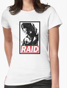 Tomb Raider Obey poster Womens Fitted T-Shirt