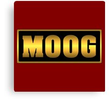 Vintage gold moog synth Canvas Print