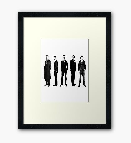 Sherlock cast in black and white Framed Print