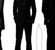 Sherlock cast in black and white Sticker