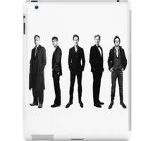 Sherlock cast in black and white iPad Case/Skin