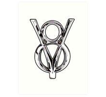 V8 Logo Art Print