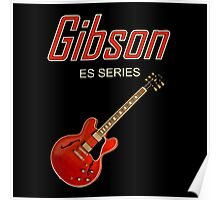 Red Gibson ES Poster