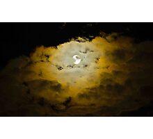 Moody Moon Sky Photographic Print