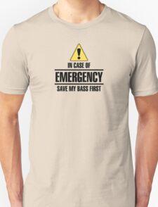 Save my bass (black) Unisex T-Shirt