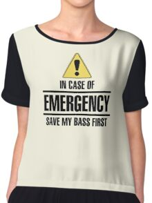 Save my bass (black) Chiffon Top