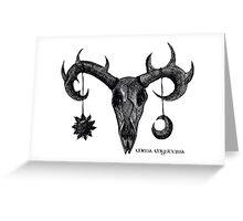 Sun and Moon Deer  (Black edition) Greeting Card