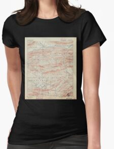 USGS TOPO Map Arkansas AR Hot Springs 260498 1890 125000 Womens Fitted T-Shirt