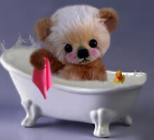 PRIVACY PLEASE..FLOFFY BEAR IS TAKING A BATH..PICTURE/CARD by ✿✿ Bonita ✿✿ ђєℓℓσ