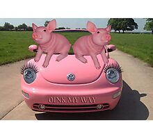 OINK MY WAY PIGS VW PICTURE/CARD Photographic Print