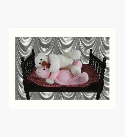 PRECIOUS MOMENTS IN TIME - BEARS SO SWEET ITS CUDDLE TIME Art Print
