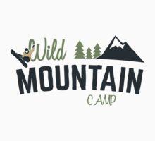 Mountain Camp Design Kids Tee