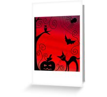 Halloween landscape Greeting Card