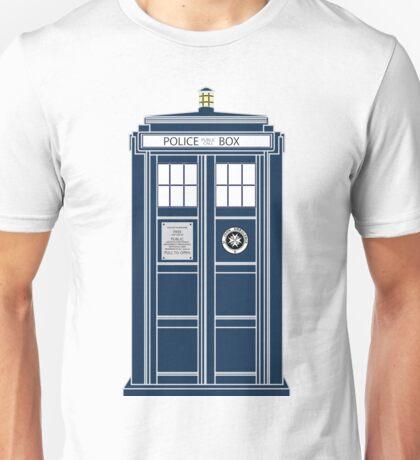 Blue Tardis, Doctor Who Police box Unisex T-Shirt