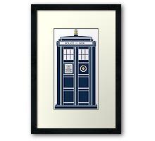 Blue Tardis, Doctor Who Police box Framed Print