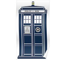 Blue Tardis, Doctor Who Police box Poster