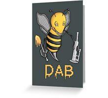 Bee Dab Greeting Card