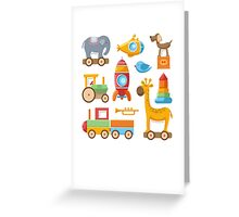 Baby And Kids Toys Greeting Card