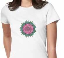 Floral Mandala Design Womens Fitted T-Shirt