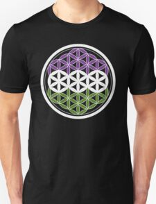 sacred geometry gender queer Unisex T-Shirt