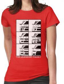 Mitsubishi Evolution. Legendary Family Womens Fitted T-Shirt