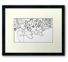 Music Gun Framed Print