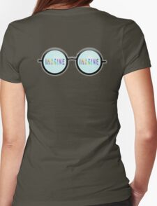 Imagine, Psychedelic, Round, Glasses, Womens Fitted T-Shirt