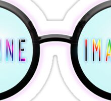 Imagine, Psychedelic, Round, Glasses, Sticker
