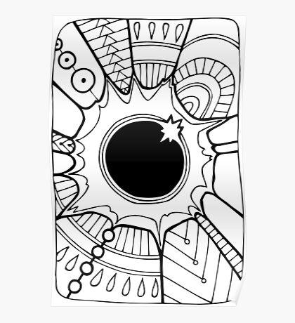 Solar Eclipse - Mono Poster