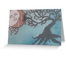 Sun/Moon and Tree Greeting Card