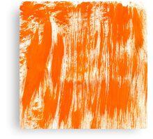 Orange Paint Brush Canvas Print