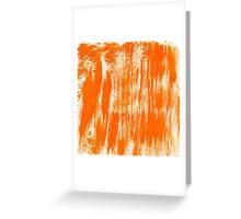 Orange Paint Brush Greeting Card