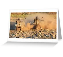 Warthog - Dust, Tusks and Hormones Greeting Card