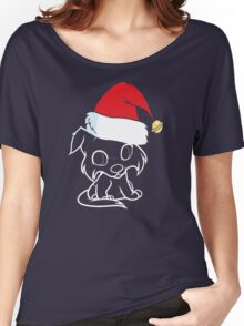 Collie Hat Santa Women's Relaxed Fit T-Shirt
