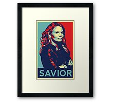 Emma Swan (Obama campaign poster) Framed Print