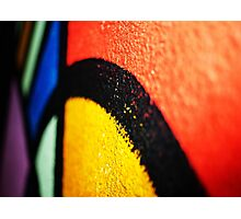 Coloured Paint Photographic Print