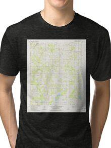 USGS TOPO Map Arkansas AR Oak Grove 259278 1982 24000 Tri-blend T-Shirt
