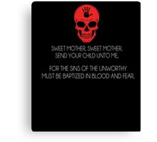 Skyrim Dark Brotherhood Black Sacrament T-Shirt Canvas Print