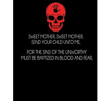 Skyrim Dark Brotherhood Black Sacrament T-Shirt Photographic Print