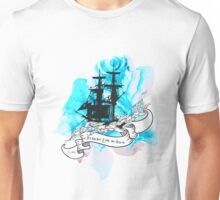 Flowery Ship Unisex T-Shirt