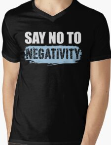 Say No to Negativity in Black & Blue T-Shirt
