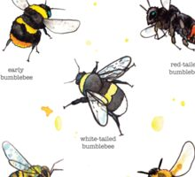 Top bees of britain Sticker