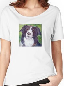 Border collie. Coloristic Women's Relaxed Fit T-Shirt