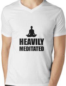 Heavily Meditated Mens V-Neck T-Shirt