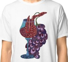 Wine and grapes illustration Classic T-Shirt